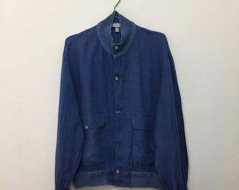 Ichiatti Womens Jacket/Ichiatti Linen Button Down Jacket/Made in Italy/Blue/Size 48