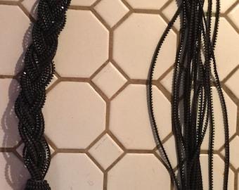 Late 1980s metal zipper necklace in bronze color