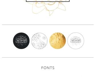Florist Branding package | Branding kit | Marketing templates | Logo Design