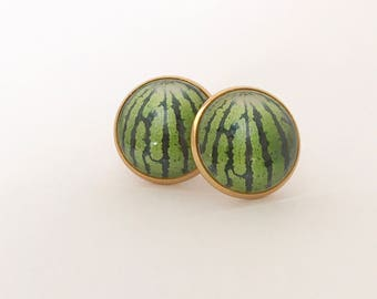 Watermelon Earrings, Fruit Earrings, Watermelon, Watermelon Studs, Watermelon Posts, Watermelon Jewelry, Watermelon Jewellery, Fruit Earring