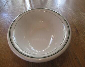 Vintage Homer Laughlin Green Stripe Restaurant Ware Large Oval Serving Bowl Dish