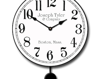 Simply White Pendulum Wall Clock