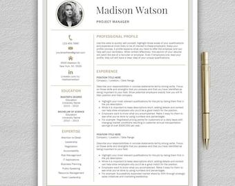 Modern Resume Template | Professional Resume Template Word | CV Template |  Creative Resume Template |
