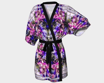 A great romantic or bridal shower gift!Floral Fantasy Kimono Robe type 1
