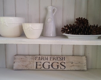Farm Fresh Eggs Sign Made From Reclaimed Wood
