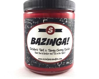 Bazinga, The Big Bang Theory Inspired Soy Candle