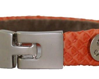 Python Bracelet, Python Cuff, BAJ 496 S Orange Matte