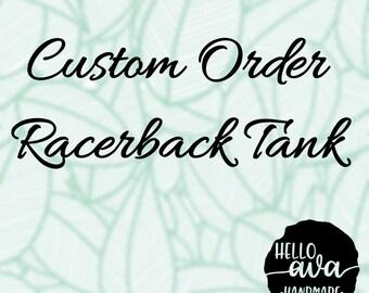 Custom Racerback Tank, womens shirt, ladies shirt, marketing shirt, mom shirt, wifey shirt, teacher shirt, custom ladies shirt, flowy shirt