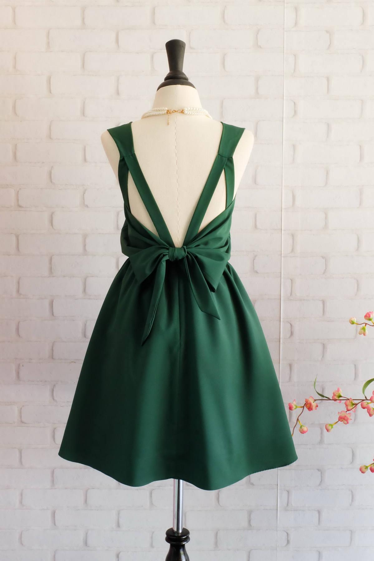 Forest Green Kleid grünen Kleid grün Abschlussball Kleid