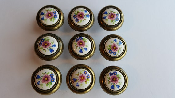 drawer pulls cabinet style blue knobs vintage pin glass s drawers porcelain dresser deep aqua