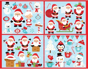 Christmas / It's Santa! Clip Art Bundle Collection / Digital Clipart - Instant Download