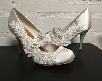 Scarlet ( Bridal Wedding Mary Jane Shoes)