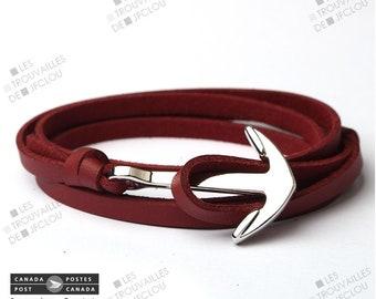 Anchor sailor Anchor leather bracelet