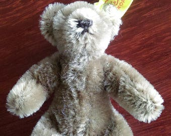 "Steiff Miniature 4"" Teddy Bear with Original Attached Tags - Caramel - Vintage"