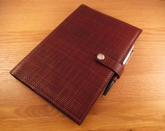 Real Leather Brown A5 Notebook Cover/Diary Cover/Journal Cover complete with Notebook.