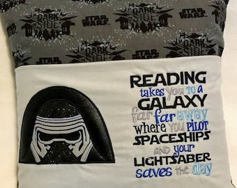 """16""""x16"""" Star Wars Inspired Reading Pillow - Books - Kids Gifts - Bedtime Story"""