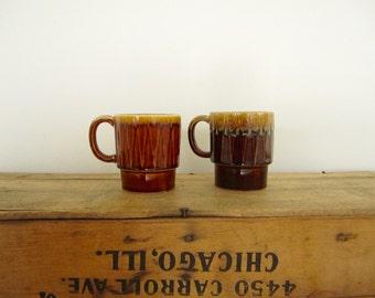 Brown Stacking Mugs
