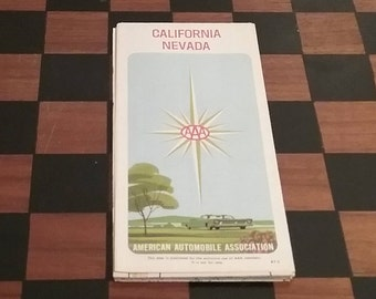 AAA 1967 California/Nevada Road Map,  brought to you by UsefulRetro!