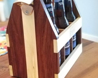 Beer Caddy with iron bottle opener