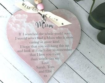 Personalised Mum/Mummy/Mother Heart Gift P310