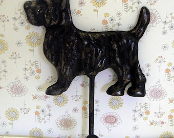 Scottish Terrier Dog Hook Shabby Chic Off Black Scottie Canine Gift Idea