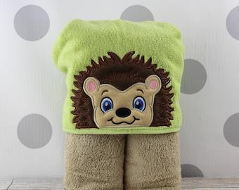 Toddler Hedgehog Hooded Towel - Baby Hedgehog Towel for Bath, Beach, or Swimming Pool - Toddler Hedgehog Towel - Great Christmas Gift Idea!