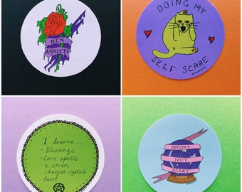 Halloween sticker set by Hannah Daisy