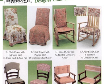 Simplicity 5952 Chair Covers - Designer Chair Cover & Chair Pads - Easy Sewing Pattern