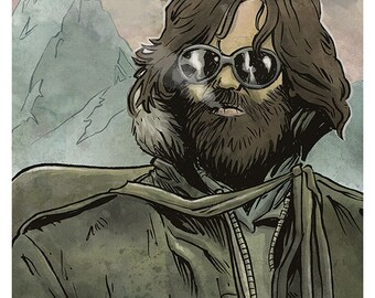 The Thing - R.J. MacReady (Kurt Russell/John Carpenter) colour art print