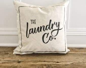 Laundry Co. Pillow Cover (White)