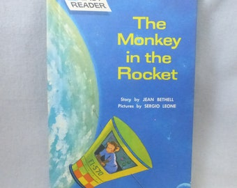 Vintage Childen's  Easy Reader The Monkey in the Rocket
