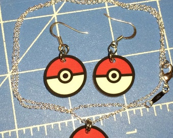 Pokemon Pokeball - Keychain, Cell Phone Charm, Necklace, Earrings, Stickers, Tattoos, Embroidered Patch, Magnets