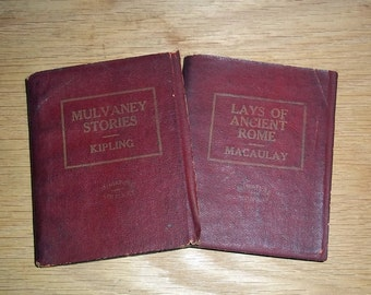 Vintage Miniature Books Published Early 1920s Kipling, Macaulay Set of 2