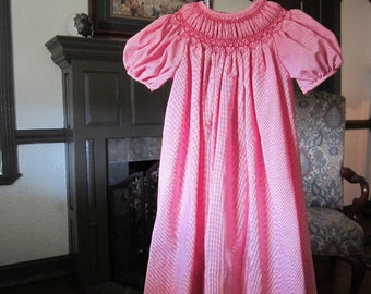 Girls Bishop Dress, Imperial Batiste, size 4 to 5 years, #716