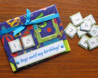 Magnetic Birthday Countdown Calendar