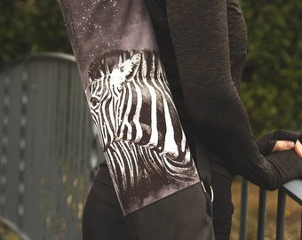 Yoga Mat Bag. Yoga Mat Sling. Zebra Yoga Mat Bag.