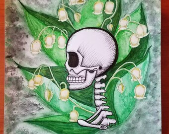 Lily of the Valley Skull