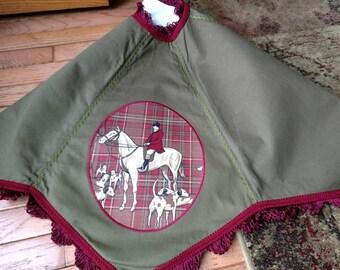 Christmas Tree Skirt with Fox Hunting / Equestrian Design
