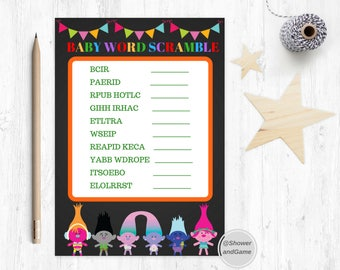 Baby Shower Baby Word Scramble Game Trolls | Trolls Baby Shower Baby Word Scramble Game|Baby Shower Word Scramble Trolls | Trolls Game