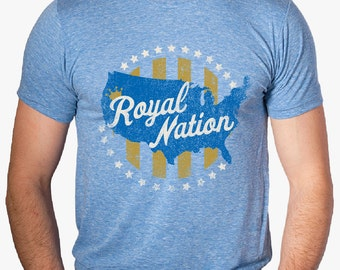 ROYAL NATION Kansas City Baseball Custom T-shirt