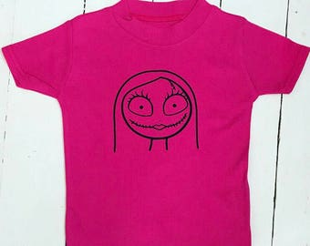 Sally nightmare before christmas halloween tshirt tee top cerise pink
