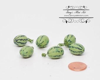 1:12 Dollhouse Miniature Watermelon- Set of 6 / Miniature Fruit BD P006