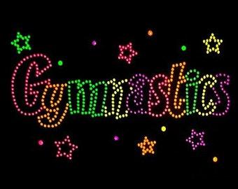 Adult gymnastics neon rhinestud tee a9663c