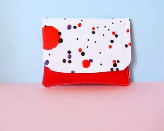 Hand painted cotton wallet