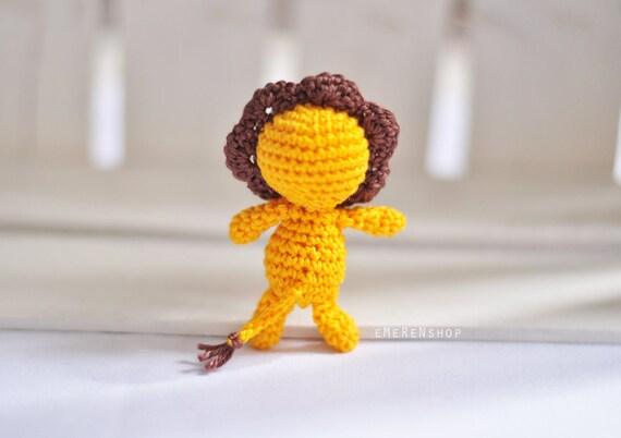 Little Amigurumi Lion : Crochet keychain lion amigurumi keyring little lion