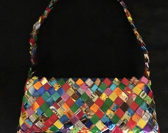 "Vintage ""candy wrapper"" purse"