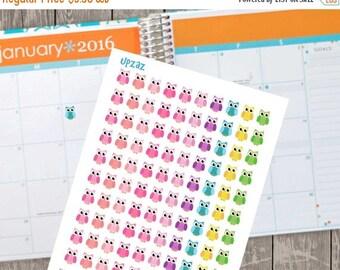 75% OFF SALE Owl Planner Stickers, Set of 100 Printable Planner Stickers, Instant Download - UZ827Ps
