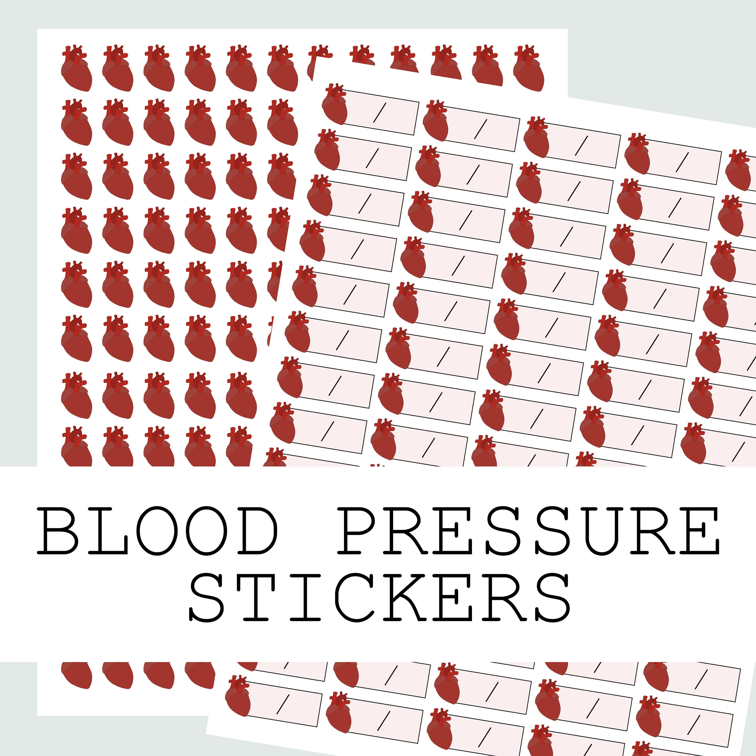 Blood pressure chart stickers for monitoring your blood zoom nvjuhfo Gallery