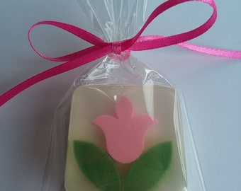 Pink Tulip Soap Favors, 15, SPECIAL PRICE - Ready to Ship