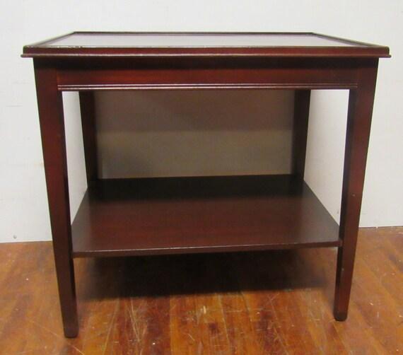 Small mahogany table